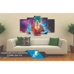 GO Diseños Cuadro  Dragon Ball Goku Súper Sayayin Dios Azul
