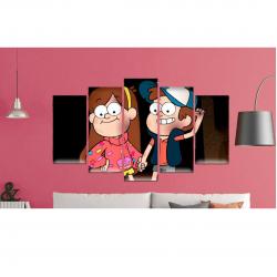 GO Diseños Cuadro Múltiple de Gravity Falls